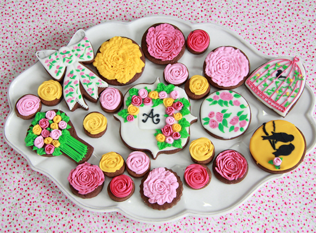 Galletas rosa y amarillo