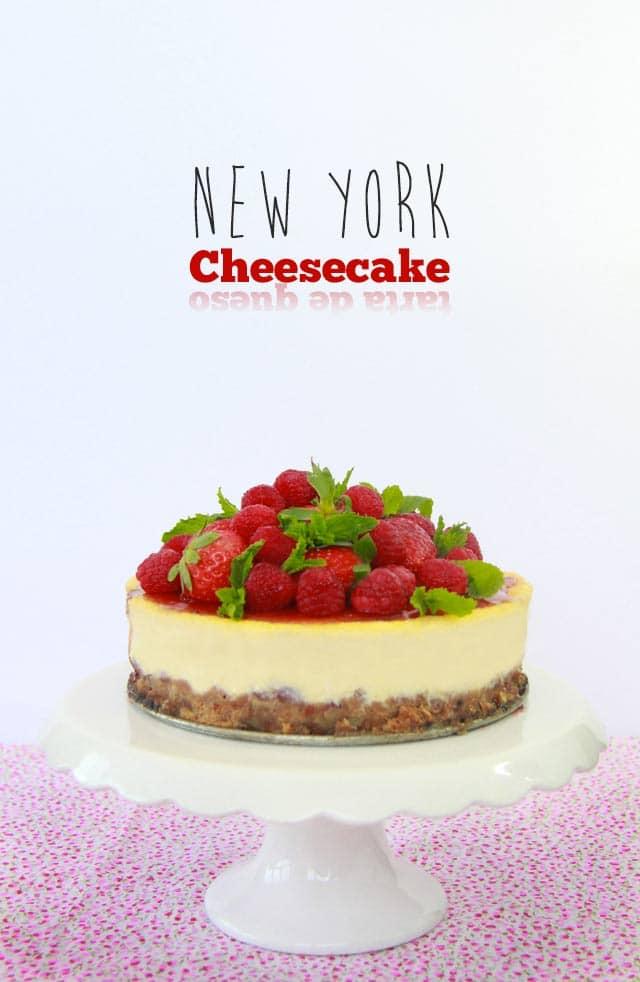 New York Cheesecake. Receta suave y cremosa