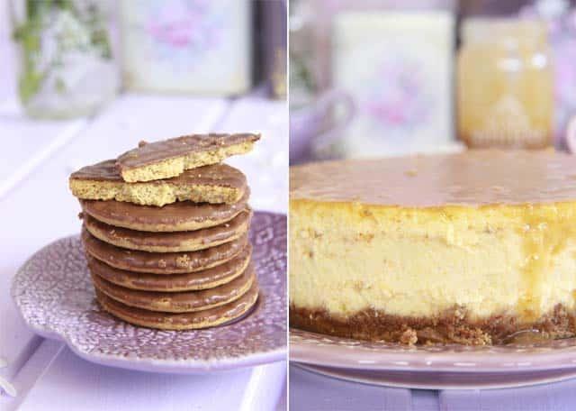 Tarta de queso de calabaza