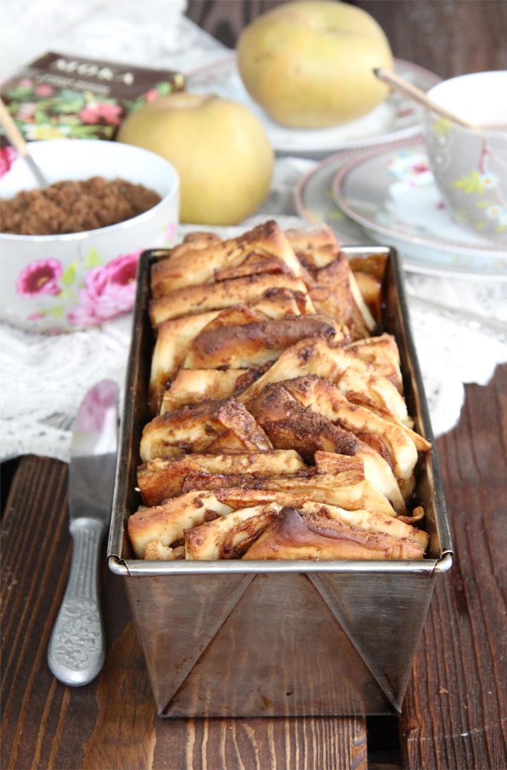 Pan dulce de manzana y canela