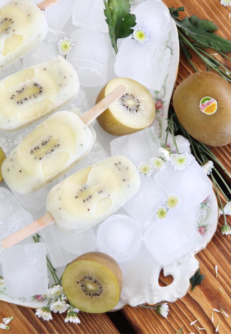 Helado saludable de kiwi Zespri SunGold