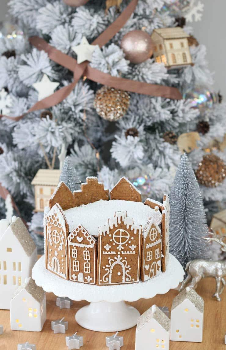 Tarta de Navidad con galletas de jengibre