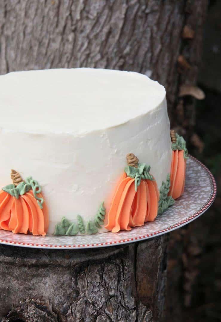 Tarta de calabaza rellena de cheesecake