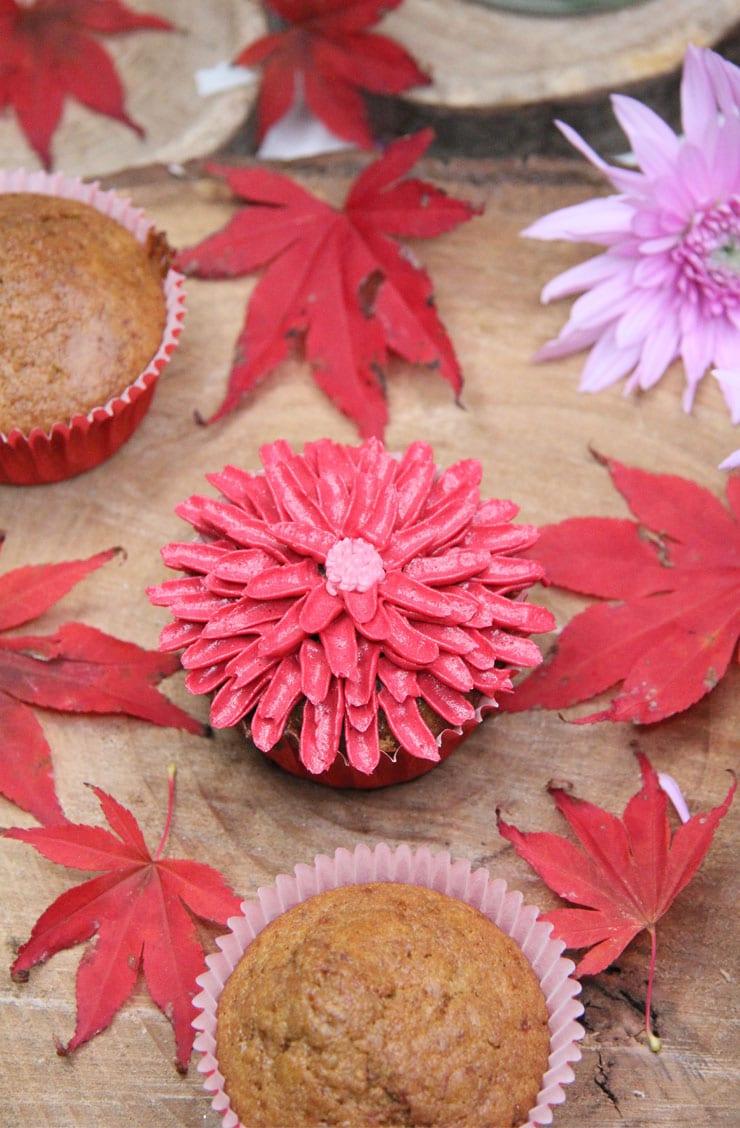 Cupcakes de manzana y caramelo salado